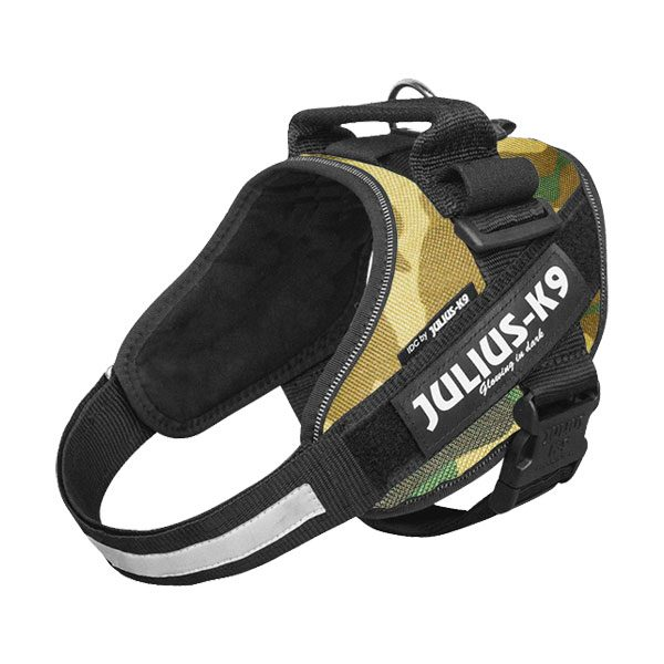 Julius IDC Powertuig kleur Camouflage maat Maat 0 met tekstlabels die gepersonaliseerd kunnen worden door K9-label