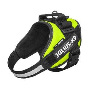 Julius IDC Powertuig kleur Neon Groen maat Maat 0 met tekstlabels die gepersonaliseerd kunnen worden door K9-label