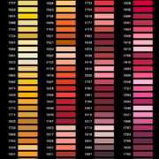 Kleuren geborduurde labels