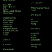 Lettertypes geborduurde labels