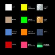 Kleuren bedrukte labels