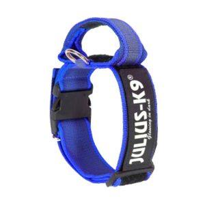 Blauwe halsband met extra borgsluiting